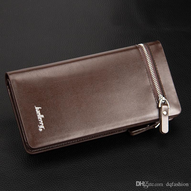 New Arrival PU Designer Men's Wallets Boy's Clutch Wallet Case Clutch Credit Cards Holders Man's Business Wallets