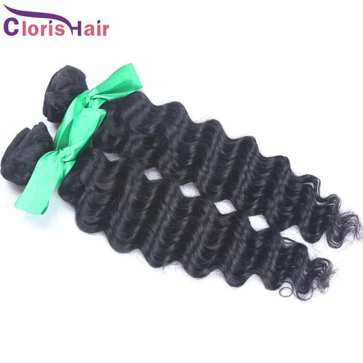Great Length Deep Curly Remi Wefts Indian Deep Wave Human Hair