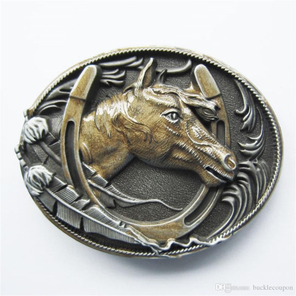 Acheter Hommes Boucle De Ceinture Vintage Vintage En Or Or Western Horse  Horseshoe Boucle De Ceinture Gurtelschnalle Boucle De Ceinture Buckle  Wt058gd Neuf ... 088e189c7e4