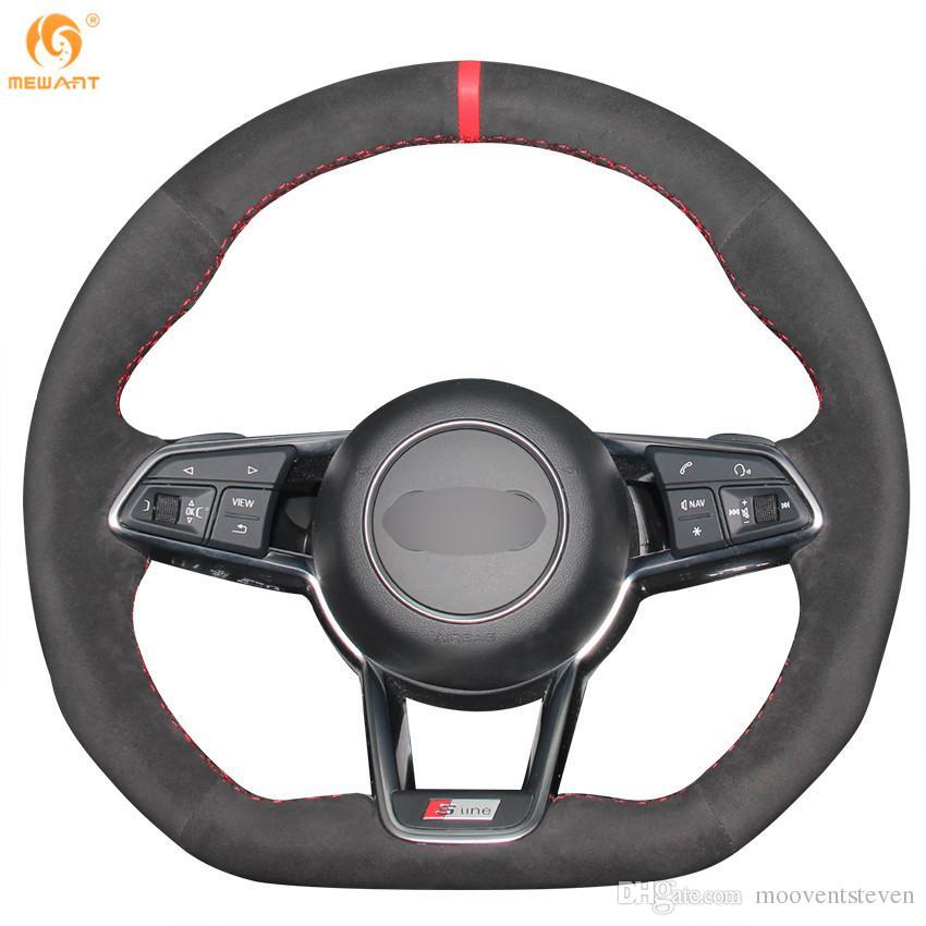 Mewant Black Suede Car Steering Wheel Cover For Audi Tt Foam - Acura rsx steering wheel cover
