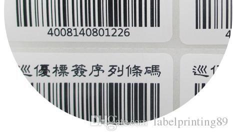 25 * 15mm / rouleau d'emballage de papier blanc ou blanc d'emballage de papier à barres autocollants auto-adhésifs étiquettes emballage roulant