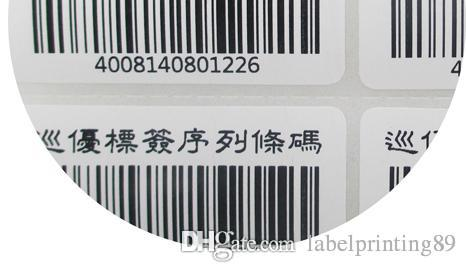 50 * 30mm / rouleau d'étiquettes ou d'étiquettes blanches de code à barres à barres d'autocollant auto adhésives pour imprimante