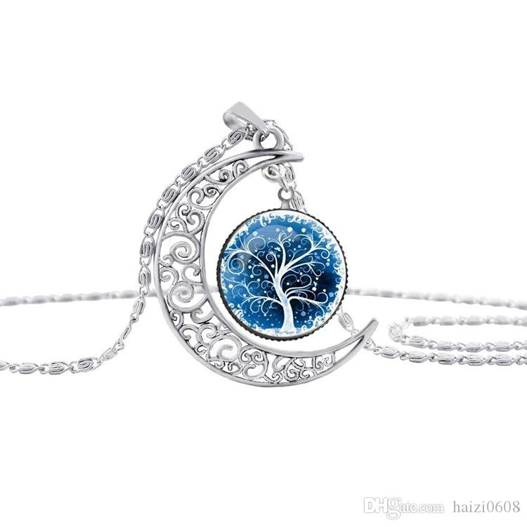 2017 Hot 100 Different Styles Tree Of Life Wolf angel Etc Necklace Lobster Clasp Silver Pendant Necklaces For Women Best Gift Jewelry