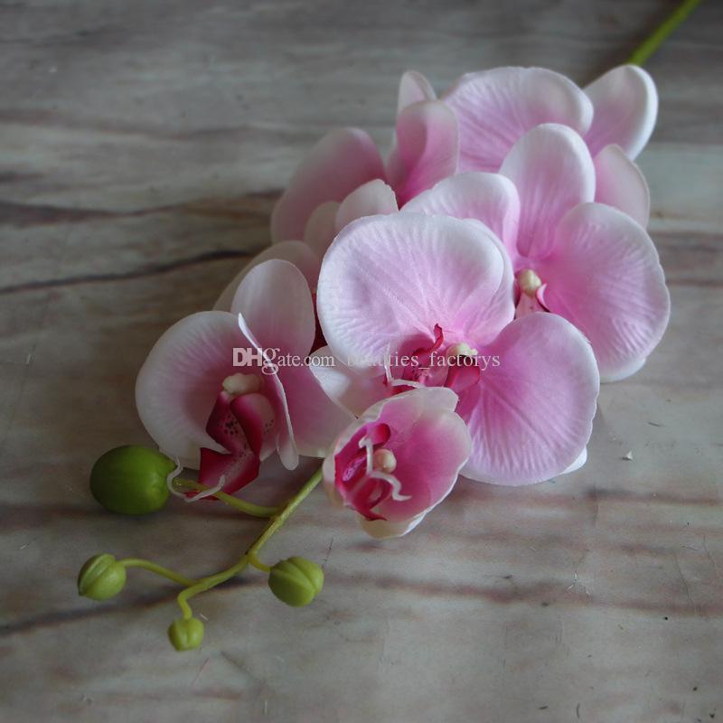 Künstliche Motten-Schmetterlings-Orchideen-Blume Phalaenopsis verfeinertes Anzeigen-gefälschte Blumen-Hochzeits-Raum-Ausgangsdekor 8 Farben