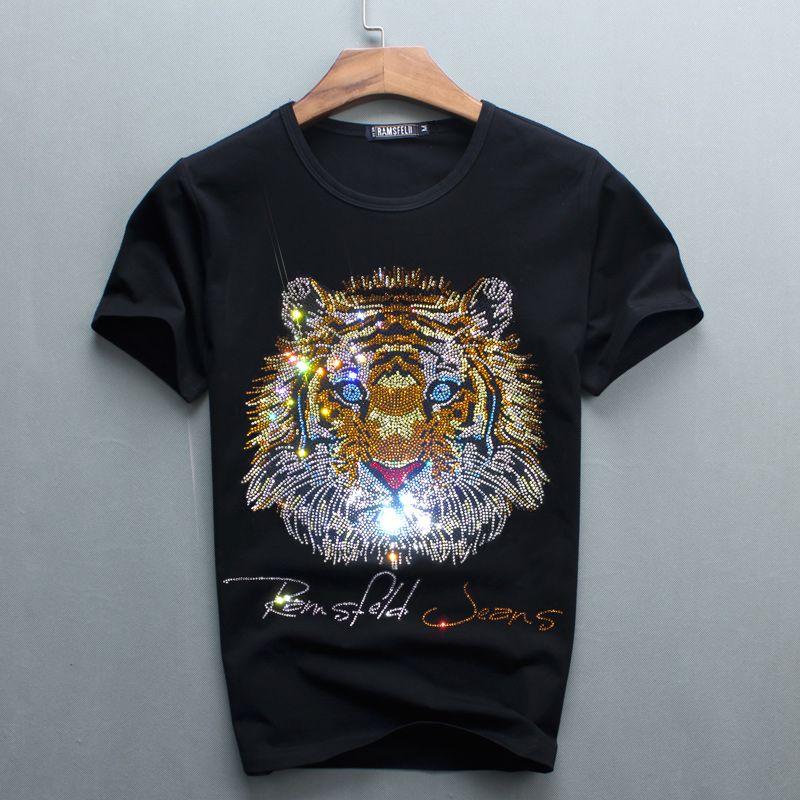 Wholesale men luxury diamond design tshirt fashion t for T shirt design wholesale