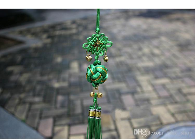 Élégant Tranditional chinois Boule Bécasseau maubèche noeud chinois Tassel Pendentif Artisanat suspendu Boule 28CM Polyster soie décoratif noeud ZGJ05