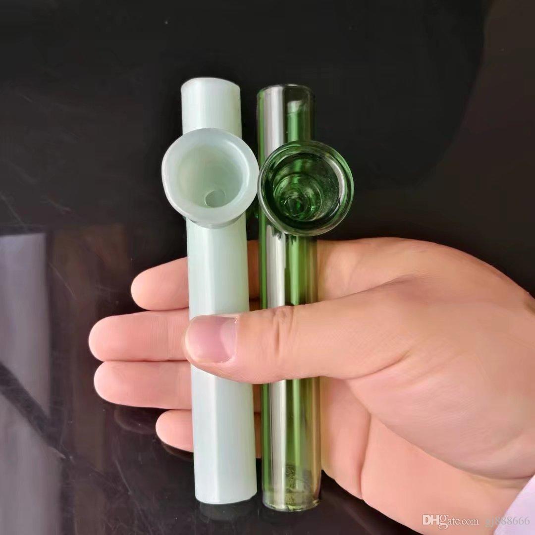 Renk huni baca cam bonglar aksesuarları, Cam Sigara Borular renkli mini çoklu renkler El Borular En Kaşık glas