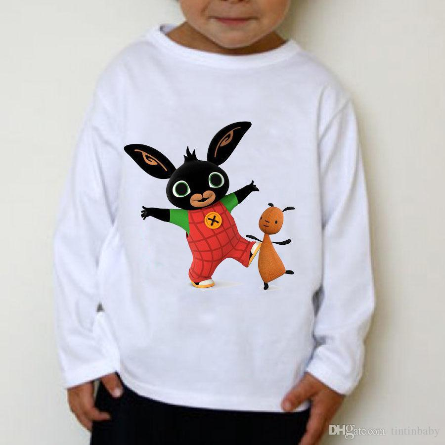 Kids Clothes Boy Bing Bunny tshirts Clothes Toddler Boys Girls Long sleeve T shirts Tops Children shirts Baby Kids Summer Clothing