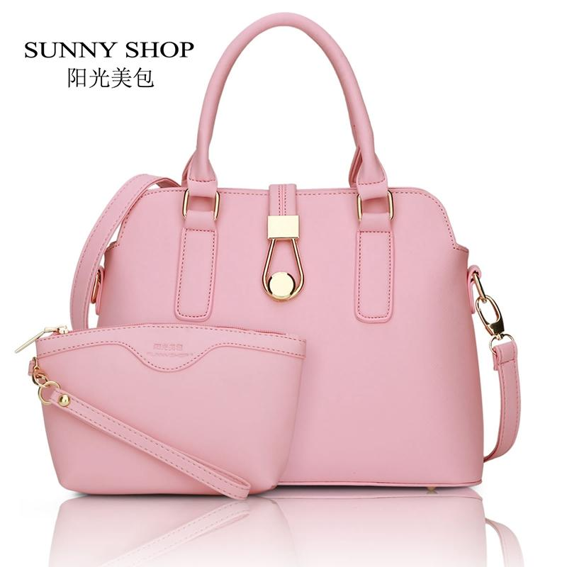 84bccf7665 Wholesale SUNNY SHOP New Women Purse And Handbags Fashion Hasp Shell Women  Messenger Bag White PU Leather Shoulder Bag Brand Designer Ladies Purses  Fashion ...