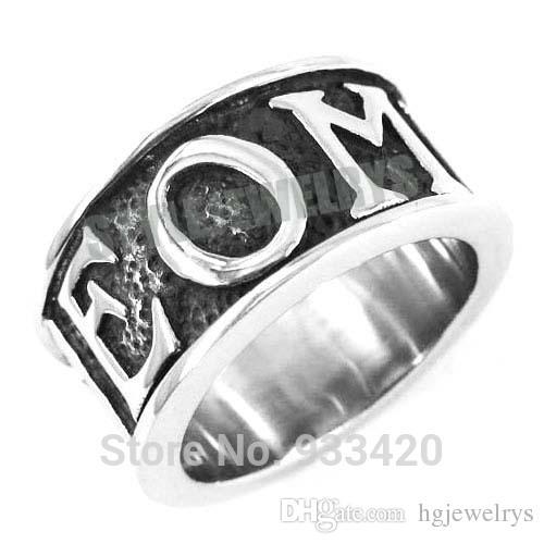 !Blue G Crystal Masonic Ring Stainless Steel Jewelry GEOMETRI Carve Words Freemasonry Motor Biker Men Ring SWR0358B