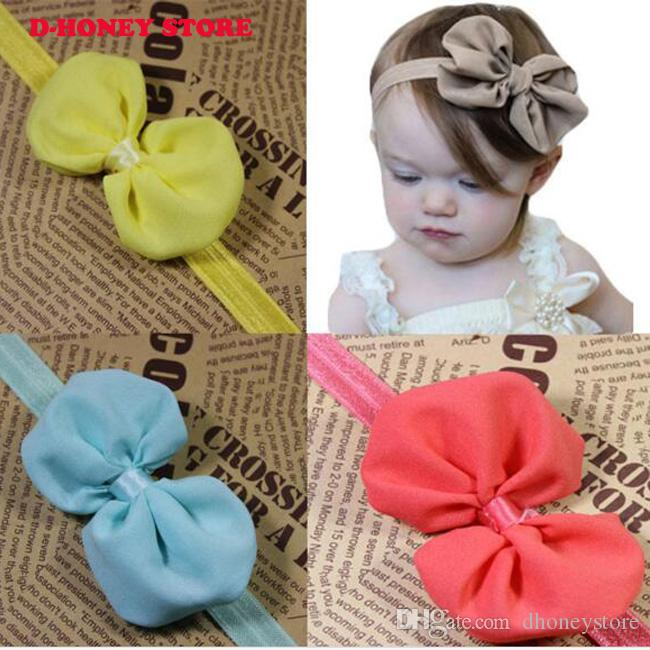 919128acf128 Newborn Baby Kids Girl Headband Infant Toddler Bowknot Dot Ribbon ...