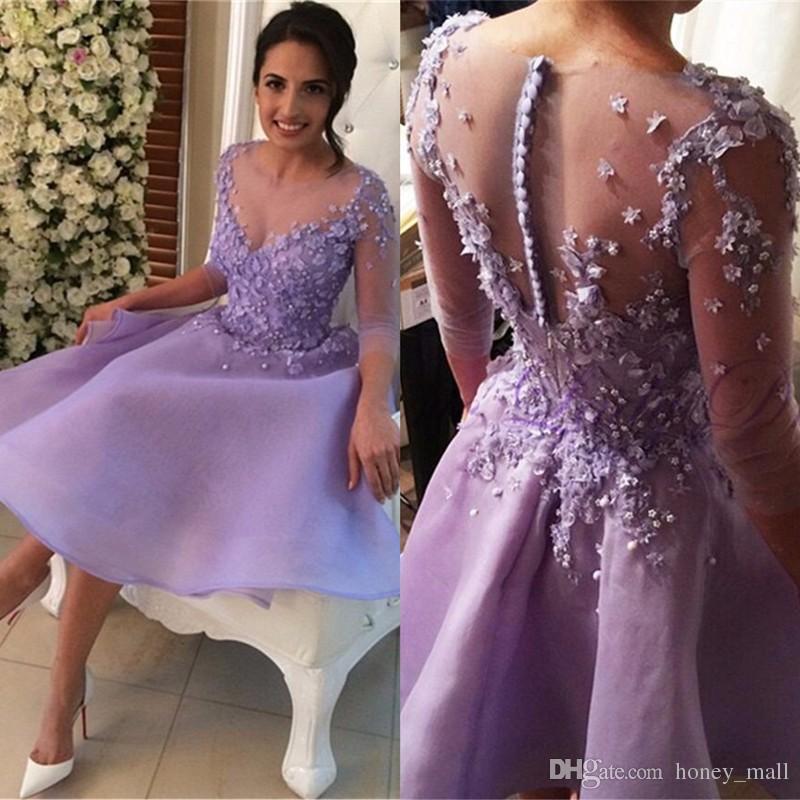 Compre El Nuevo Homecoming Púrpura 2017 Viste Los Vestidos De ...
