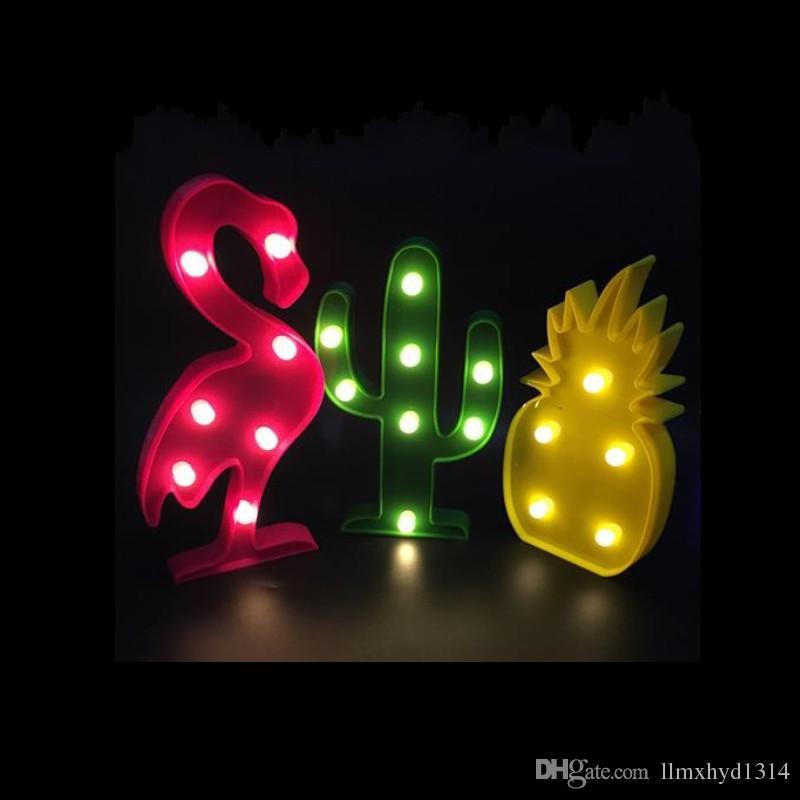 Compre Lindo Flamingo Led Luz De La Noche Signo De