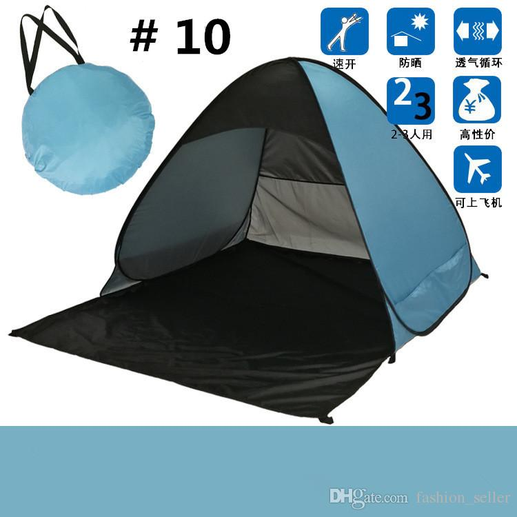 Summer Beach Tents Quick Automatic Opening 50+ UV Protection Outdoor Gear Camping Shelters Tent Travel Lawn Multicolor DHL/Fedex