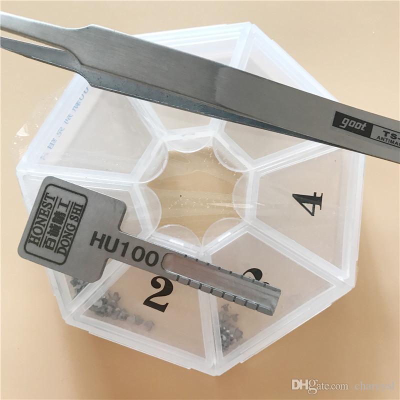 Outils de serrurerie Honest Car Moulds Moulds HU100 pour la nouvelle duplication de clé de voiture Buick / Cruze / Cadillac / Malibu une boîte