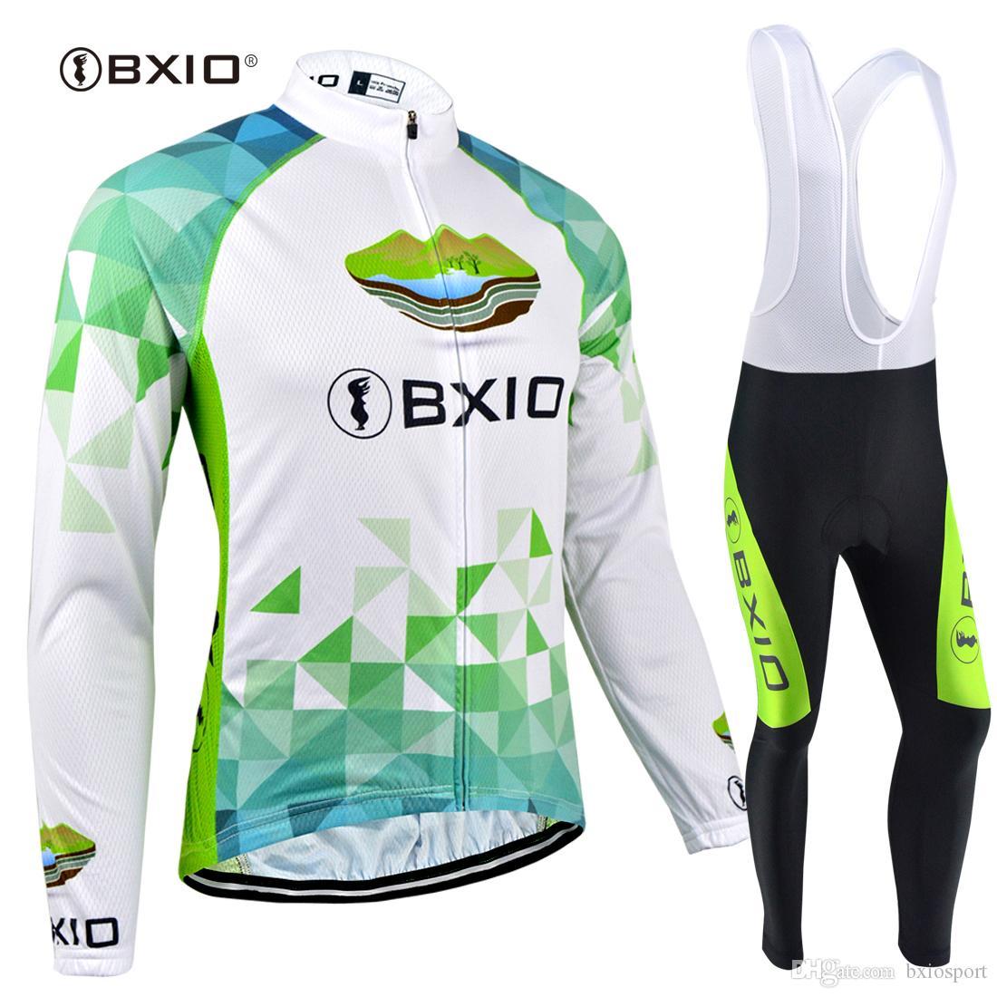 BXIO Deportes Al Aire Libre Ciclismo Jerseys MTB Invierno Fleece Ciclismo  Ropa Calidad Bicicleta Ropa Ropa Ciclismo Manga Larga Set BX 132 Por  Bxiosport 44b8df26bf849