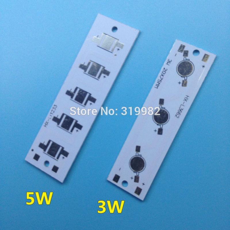 Wholesale- 100pcs LED heat sink aluminium base plate 3W 5W high power  radiator Use for LED Lamp chip White PCB Board