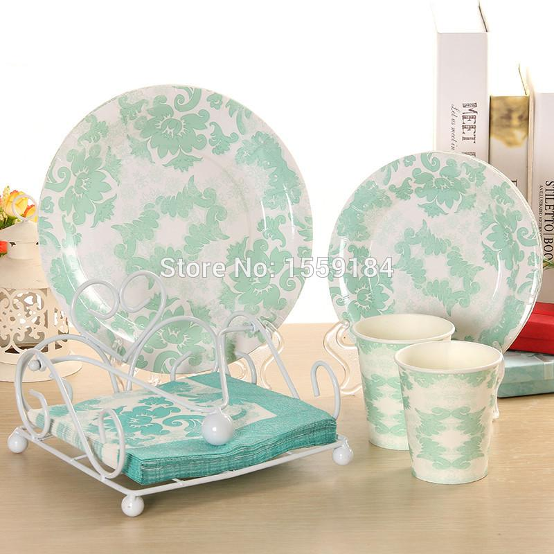 Wholesale- Disposable Party Tableware Paper Plates Cups Napkins Wedding Party Decor Party Napkin Holder Holder Napkin Napkin Texture Online with ...  sc 1 st  DHgate.com & Wholesale- Disposable Party Tableware Paper Plates Cups Napkins ...