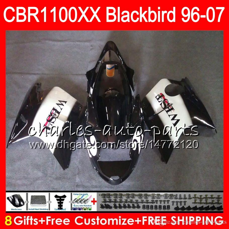 Corpo per HONDA Blackbird CBR1100 XX Black west CBR1100XX 02 03 04 05 06 07 81NO49 CBR 1100 XX 1100XX 2002 2003 2004 2005 2006 2007 Carenatura