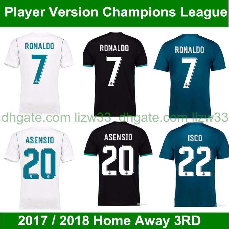 f5288de569ac2 Camiseta De Fútbol De La Versión De Campeones De La Temporada 2017 2018  Jersey 17 18 Camiseta De Fútbol De La Tercera Equipación Del Real Madrid 3ª  ...