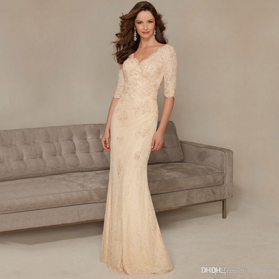 Unusual Mother Of The Bride Dresses: 2016 New Champagne Mother Of The Bride Dresses Long