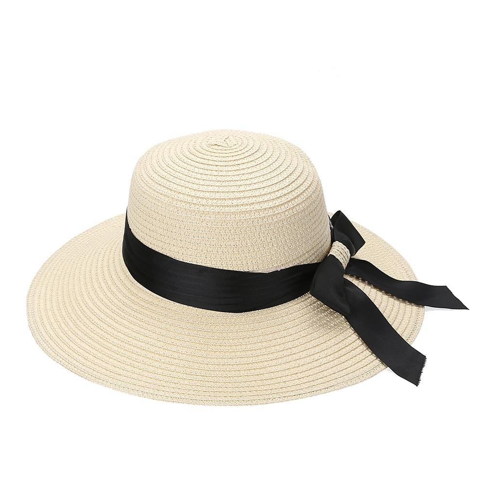 ae5615ab7a2c1 Wholesale New Straw Hat Fashion Summer Hats For Women 2017 Wide Brim Floppy  Beach Sun Cap Summer Casual Bowknot Holiday Sunhat Felt Hat Summer Hats  From ...
