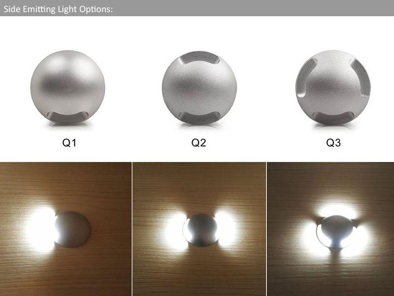 IP67 étanche 12V 3W LED lumière souterraine Lumière Creusée extérieur Paysage d'éclairage LED sol pont escalier lampe à encastrer Spot Light