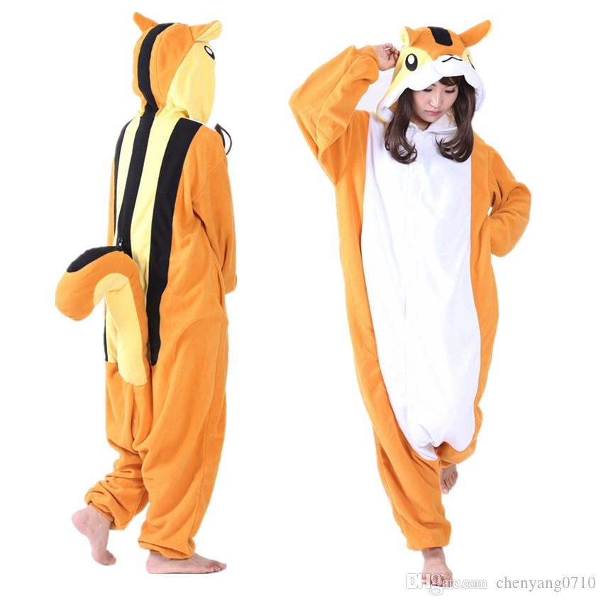 Squirrel Women And Men Animal Kigurumi Polar Fleece Costume for Halloween Carnival New Year Party Welcome Drop Shipping Adult Squirrel Costumes Adult ...  sc 1 st  DHgate.com & Squirrel Women And Men Animal Kigurumi Polar Fleece Costume for ...