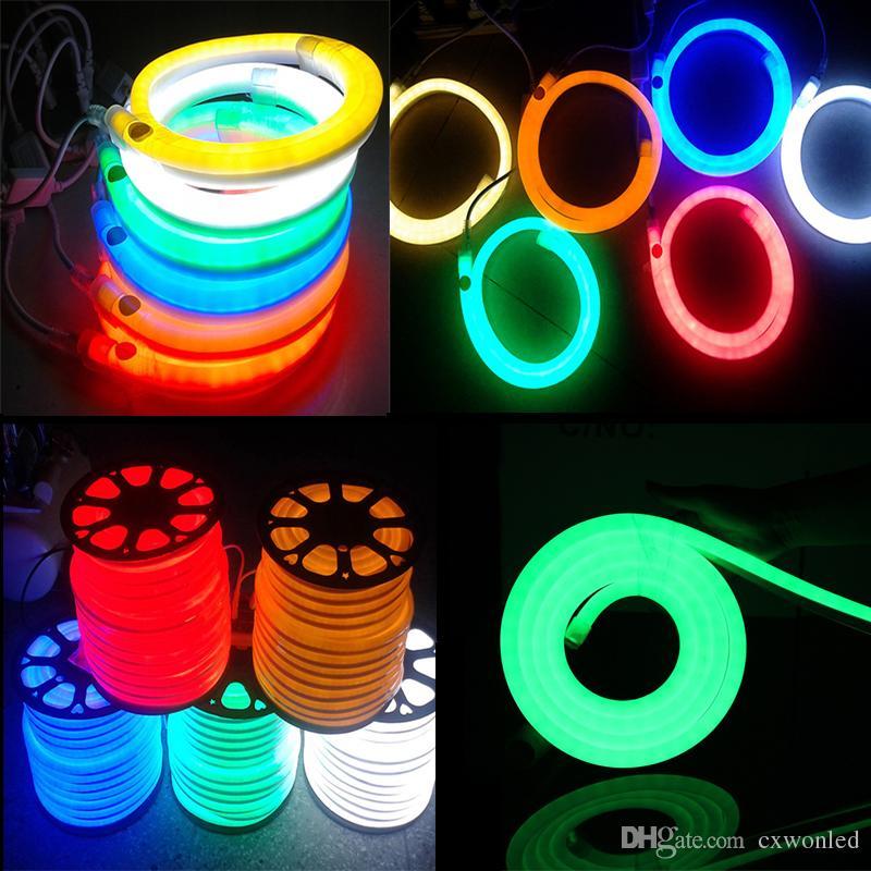 Neue Ankunfts-LED Neon Sign LED Flex Lichtschlauch PVC LED-Streifen Indoor / Outdoor Flex Tube Disco Bar Pub Weihnachtsfest-Dekoration