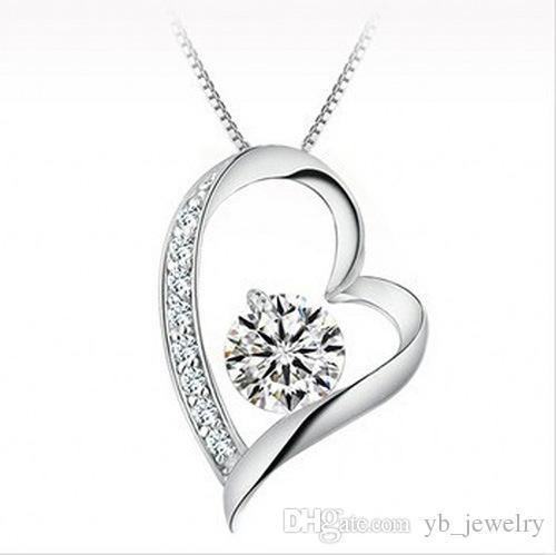 Clasificación de cristal austriaco de alta calidad Amor del corazón Colgante Collar Collar de moda Clase de moda Mujeres Lady Swarovski Elements Jewelry