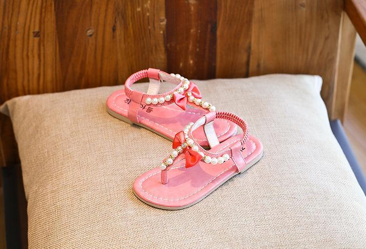 Summer Shoes Girls Sandals Summer Kids Sandals Child Rhinestone Princess Dress Shoes Girls Crystal Flip Flops
