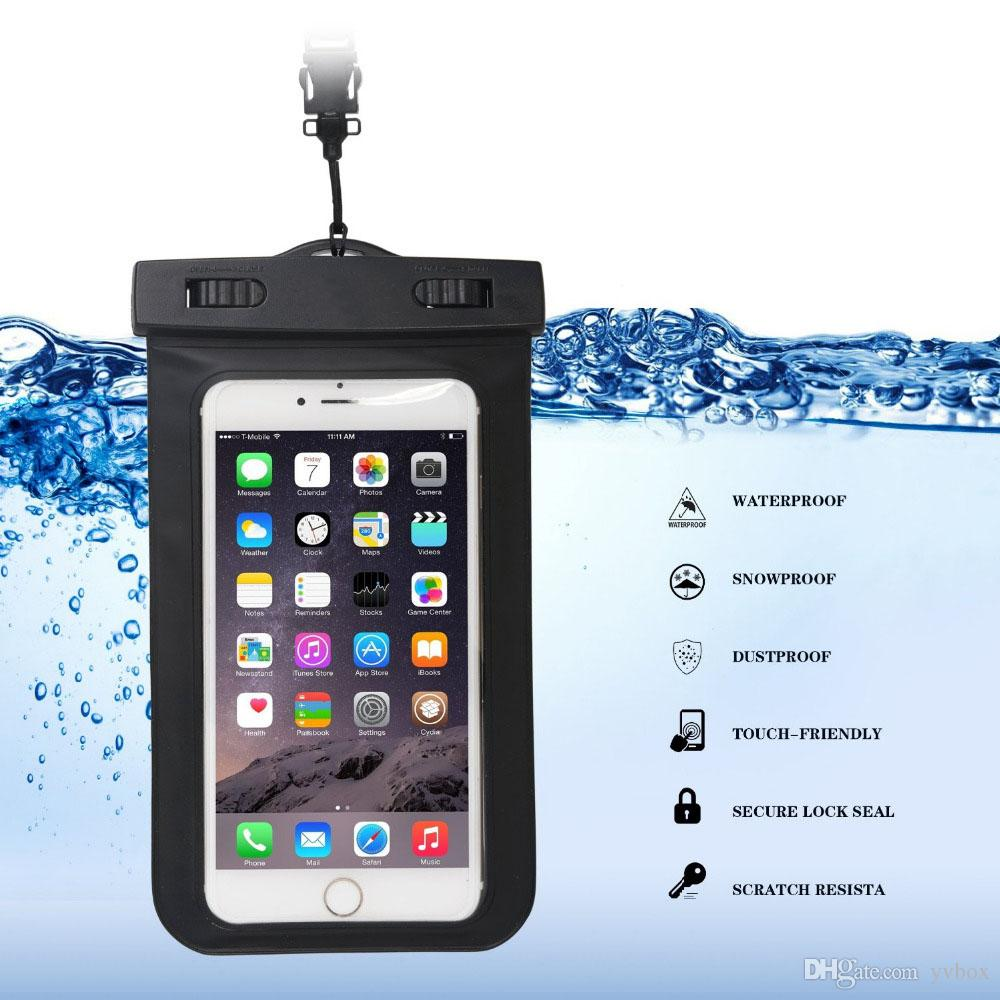 YVBOX Waterproof Case Dry Bag Hiking Dirtproof Ski Snowproof Pouch with Neck Strap for Universal Phone up to 6 inch