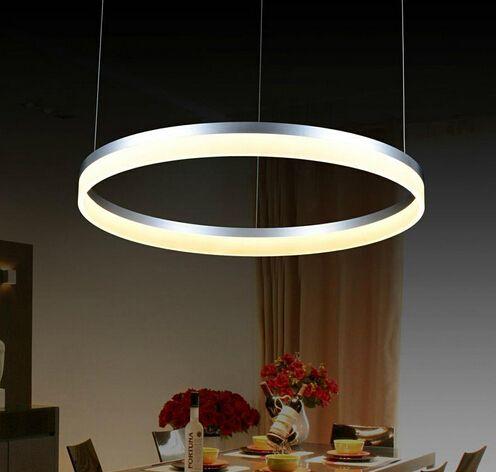 modern led living dining room pendant lights suspension luminaire suspendu led ring lighting lamp fixture de techo colgante from topsum