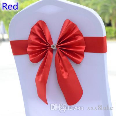 Großhandel Rote Farbe Stuhl Schärpe Schmetterling Stil Fliege ...