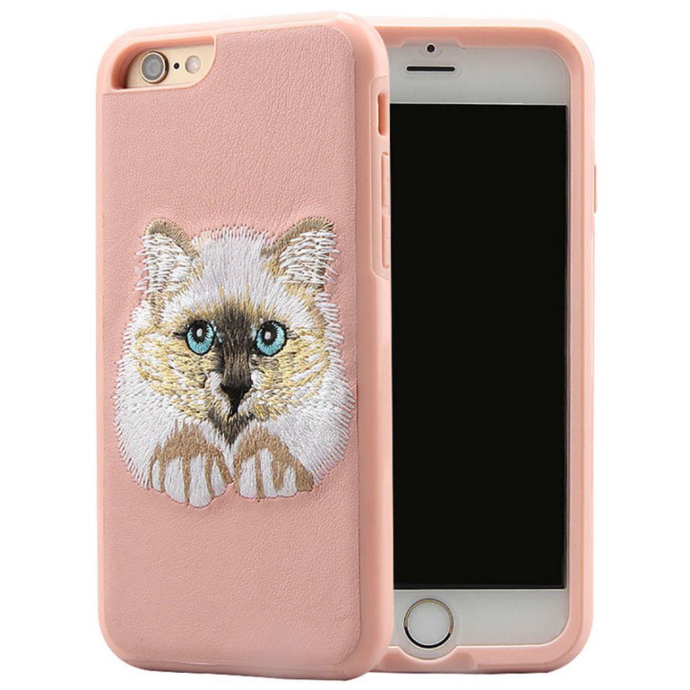 Новый Для iPhone7 i7plus iPhone 6с Вышивание животных Случай телефона Два в одном и Samsung S8plus Защитный чехол с Розничная сумка Бесплатная доставка
