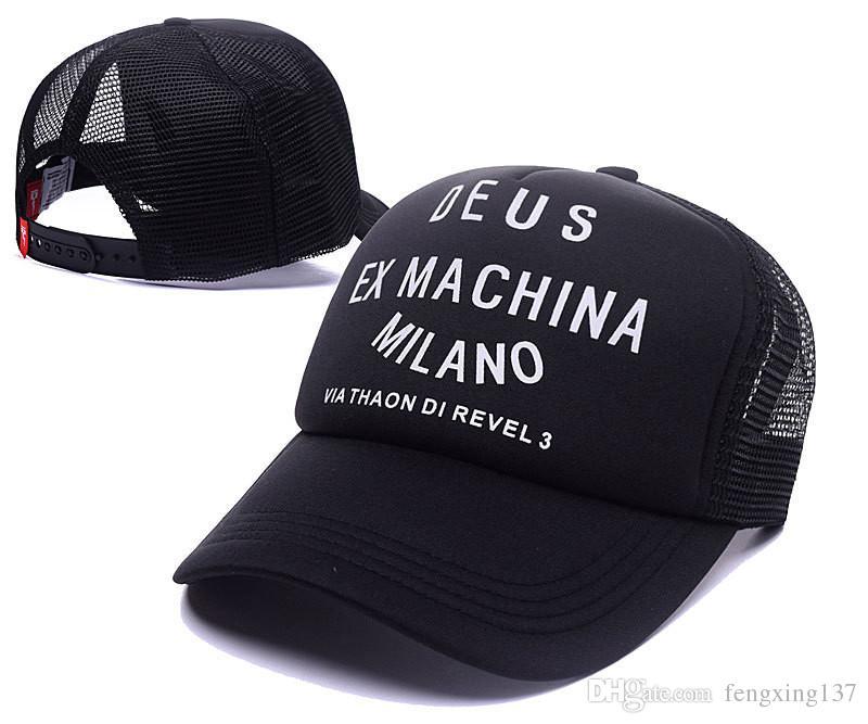 Yepyeni! Deus Ex Machina Baylands Trucker Snapback Erkek Kadın Bboy Kızlar Mesh Spor Şapka Hiphop Tanrı Dua Ovo Kap Siyah