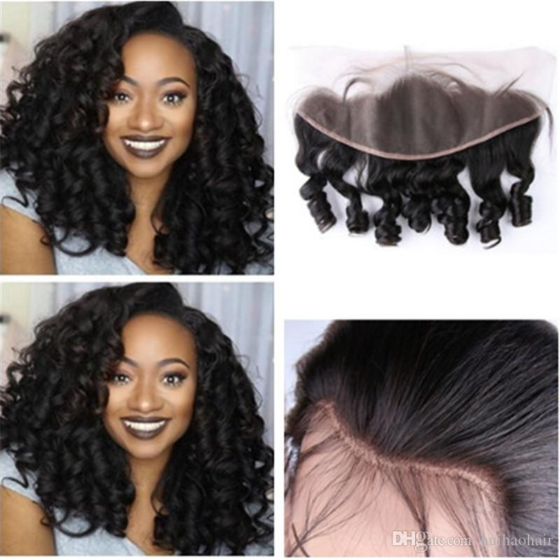 13x4 Brazilian Lace Frontal Hairpieces Unprocessed Lace Closure Human Hair  Aunty Funmi Hair 8 24inch Ear To Ear Lace Frontal Lace Front Closure Human  Hair ... f581ca86c