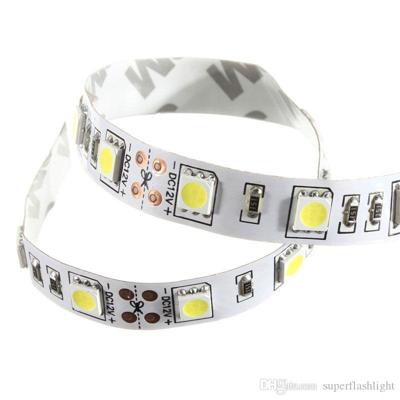 25CM SMD 5050 LED non étanche LED bande de lumière flexible PC Compute r cas lampe adhésive 12V DEL_008