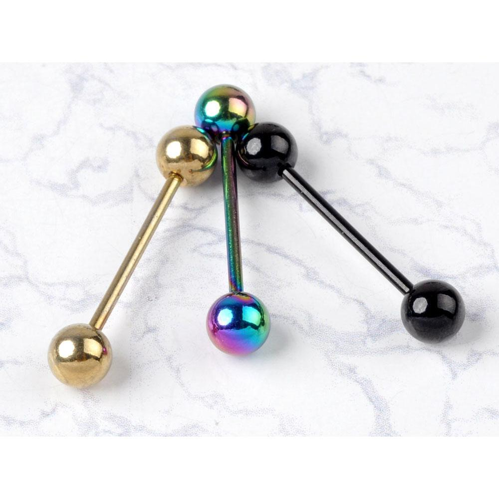 Pack Fashion Design Body Jewelry Stainless Steel Ball Barbell Bars