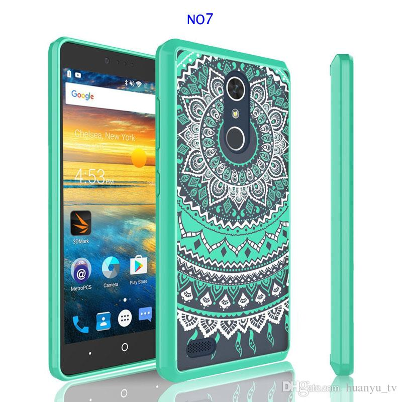 Painting TPU+Acrylic Cases For ZTE Avid 4/Z max pro 2 /LG stylo 3 K10 2018 Aristo 2 Dirt-resistant Shockproof Cell Phone Case
