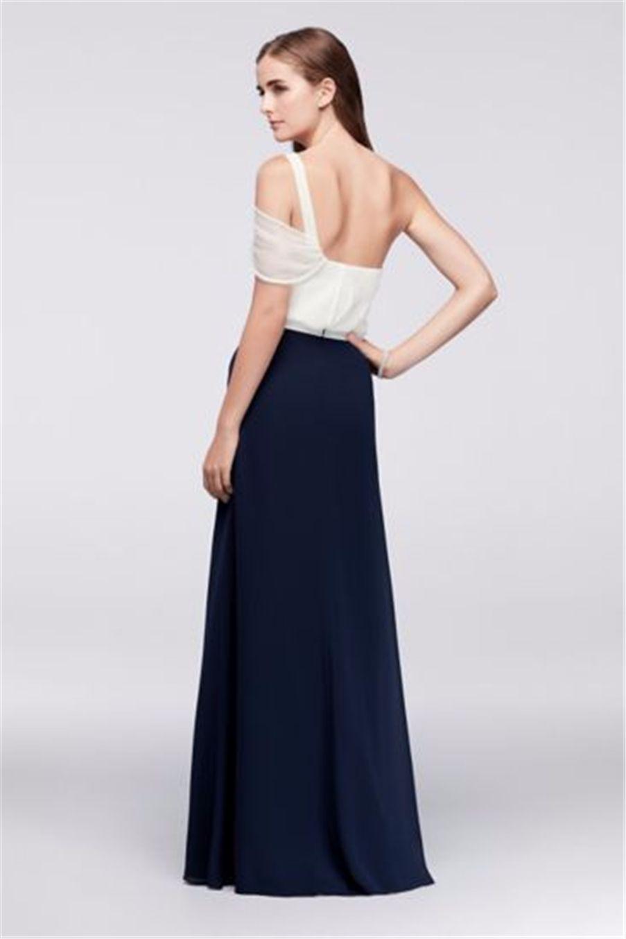 2019 НОВЫЙ! Драпированное шифоновое платье на одно плечо с бисером JP291731 Свадебное платье Вечернее платье Вечерние платья