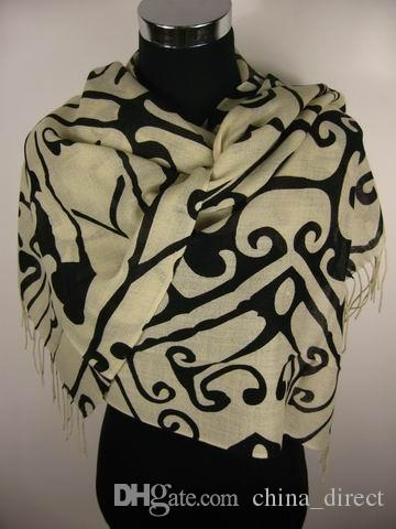 2017 lana Pashmina Scialle di Cachemire Wrap sciarpa Sciarpe Sciarpa Foulard Wrap 10 pz / lotto # 1865