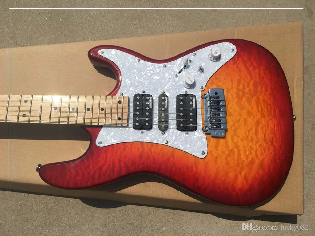 high quality red st electric guitar maple fingerboard electric guitars for sale cheap electric. Black Bedroom Furniture Sets. Home Design Ideas