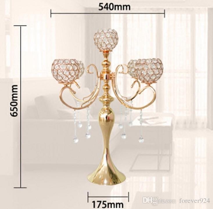 elegante alto candelabro da 5 braccia da sposa con pendenti in cristallo eventi di decorazione centrotavola da sposa