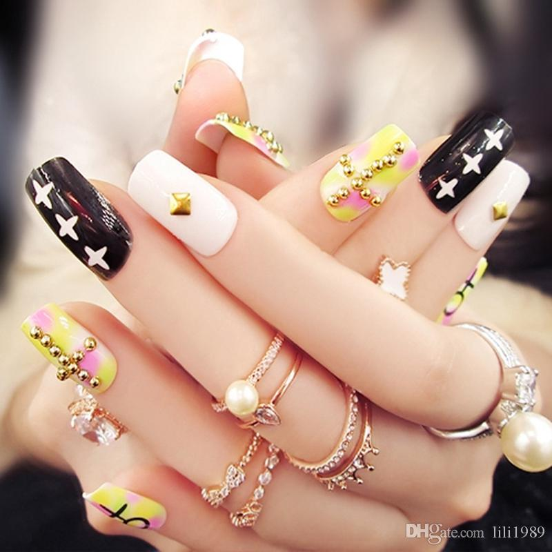False Nails Trends Willow Pseudo Nails Art Leopard Fake Nails ...