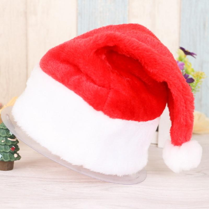 77696668ca6bb Christmas Cap Cute For Children Kids Adults X Mas Party Cosplay Hats Soft  Plush Santa Claus Merry Christmas Holiday Hat Gifts Decoration Day Christmas  ...