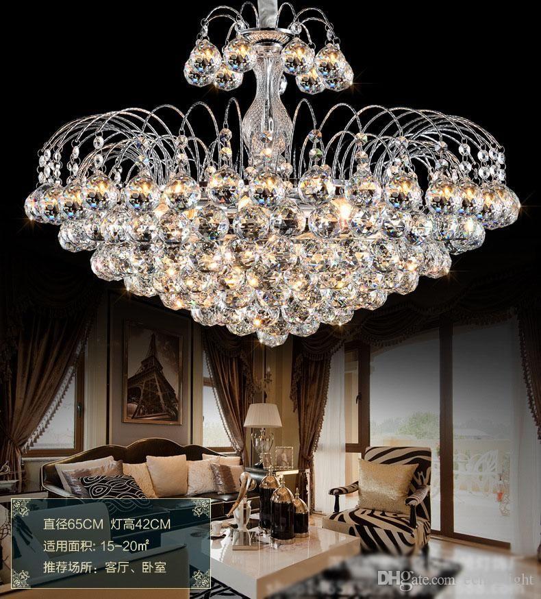 Acheter Lustres En Cristal De Luxe Plafonnier Contemporain E14 Led