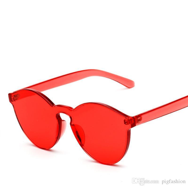 1090d640aff22 Compre Atacado Moda Doce Cor Cat Eye Integrado Eyewear Mulheres Keyhole  Óculos De Sol Shades Designer De Marca De Luxo Óculos De Sol UV400 De  Pigfashion, ...