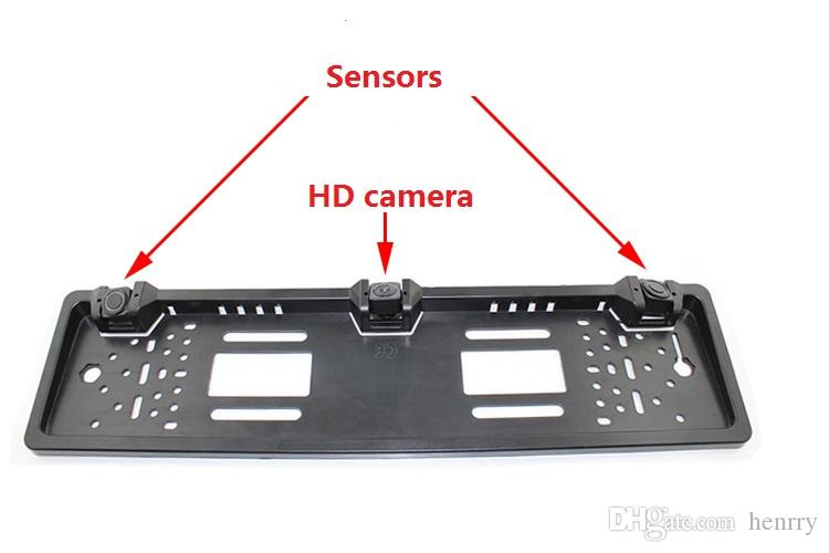 European License Plate Car Parking Sensor PZ600L Four Sensors Human Voice Bibi Sound Alarm To Choose