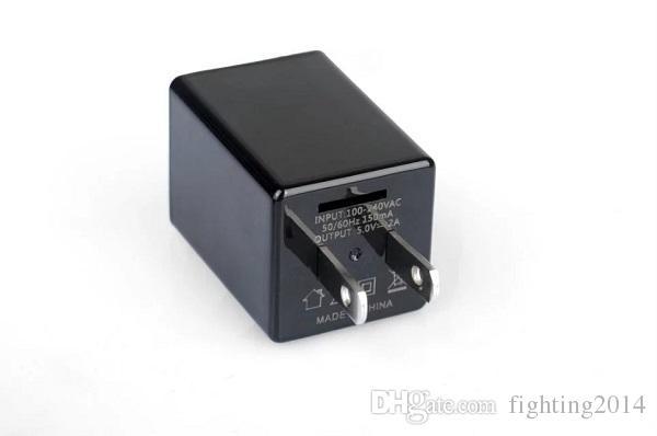 Adaptador de CA WIFI Mini cámara IP P2P 1080P EU EE. UU. Cargador de enchufe DVR cámara de teléfono móvil Cargador de seguridad para el hogar monitor remoto Cam Cam